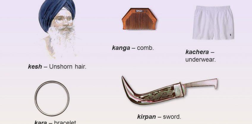 Wearing The 5 kakar (Kara, Kesh, Kirpan, Kacheras, Kanga)